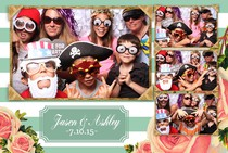 Lowville NY winery photo booth wedding reception fun props.