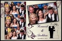 Bride Groom and parents in photo booth at Lewis County winery in Lowville NY photo booth