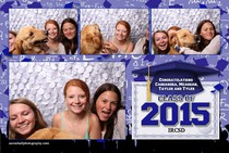 Indian River Graduation party photo booth picture with dog in Philadelphia Jefferson County NY